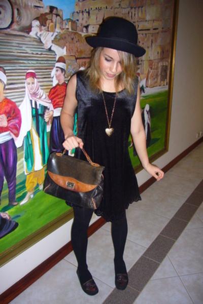 vintage hat - deathstarvintage dress - vintage - vintage purse