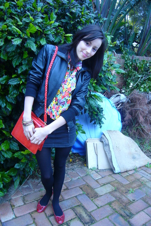 Target jacket - deathstarvintage blouse - Kookai skirt - from malaysia purse