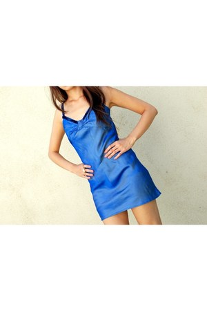 blue Jessica McClintock dress