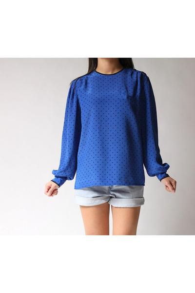 blue SK & Company blouse