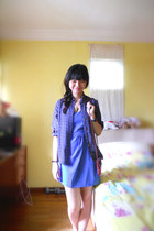 blue Platinum bangkok dress - navy Chatuchak bangkok shirt - maroon Glassons bag