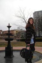 brown free people sweater - black Hype purse