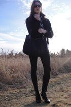 black Orsay jacket - white Twelfth of Eleven shirt - banana republic scarf - bla