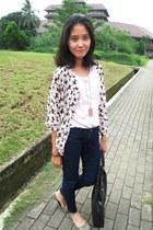 navy bershkha jeans - black tote kandang sapi buntal bag