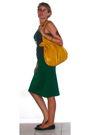 Green-vintage-skirt-gray-vintage-top-black-target-shoes-silver-etsy-neckla