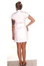 White-american-apparel-dress-white-vintage-belt-red-vintage-shoes-silver-e