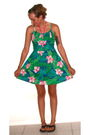 Green-vv-lutz-dress-black-target-shoes-pink-target-swimwear