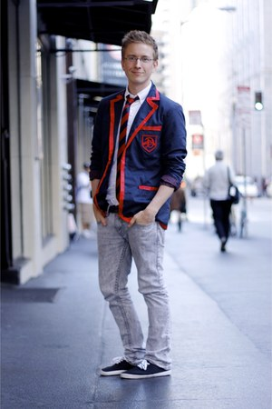 navy Urban Outfitters blazer - black Urban Outfitters shoes