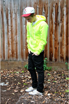 yellow neon American Apparel hoodie - bubble gum Urban Outfitters shoes