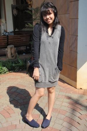 cotton on dress - easy step shoes - H&M purse - Miss Selfridges blouse