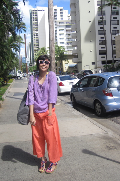 urbanoutfitters accessories - cambodia pants - SM shoes - esprit edc purse