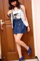 Mango top - Zara vest - Zara skirt - Zara shoes