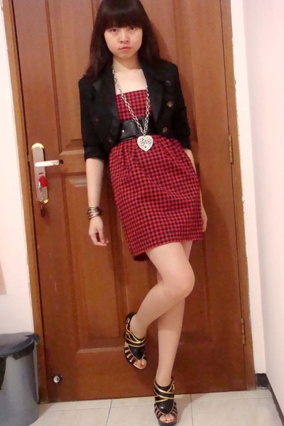 Mango blazer - Zara dress - gojanecom shoes
