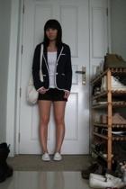 lowrys farm blazer - Uniqlo top - shorts - asos shoes