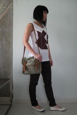 top - pants - purse - shoes