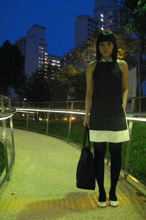 dress - tights - purse - shoes
