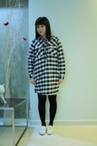 wwwzipianet dress - tights - Keds shoes
