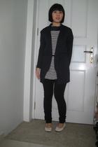 blazer - dress - tights - shoes