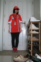 ferrari official product accessories - Puma t-shirt - Uniqlo tights -