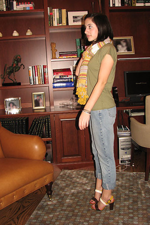 H&M scarf - PJ Salvage shirt - calvin klein jeans - Marc by Marc Jacobs shoes
