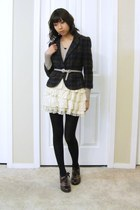 Naya shoes - Old Navy sweater - Urban Outfitters blazer - black tights tights -