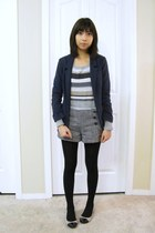 Zara coat - Old Navy sweater - H&M blazer - Forever21 shorts - franco sarto flat