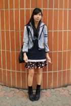 blazer - payless boots - H&M purse - from japan shirt - winners skirt