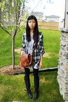 Joe Fresh belt - le chateau boots - winners dress - leggings - winners shirt