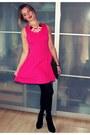 Hot-pink-zara-dress-black-primark-purse-light-pink-h-m-necklace