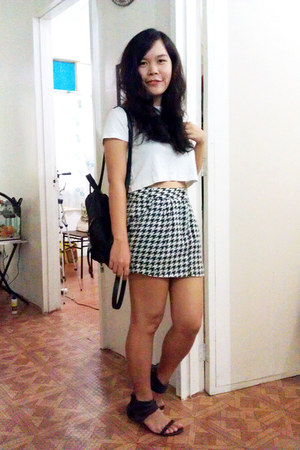 skirt - cropped blouse