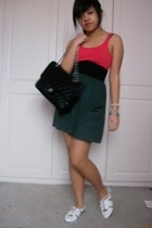 H&M top - American Apparel skirt - American Apparel belt - Topshop shoes - Chane