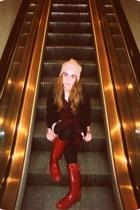jacket - talbots boots - Gap top - Savile Row scarf