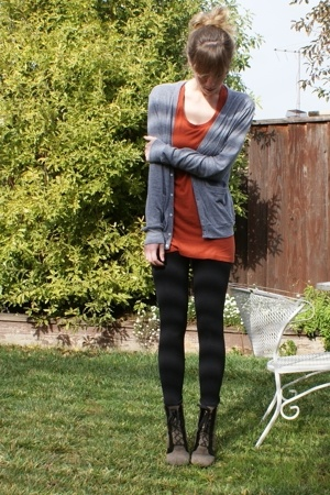 aa sweater - top - f21 tights - Marc by Marc Jacobs shoes - vintage purse