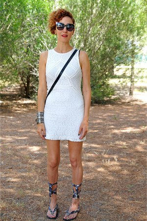 white Bershka dress