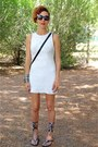 White-bershka-dress