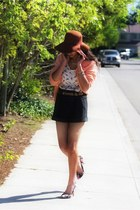 black asoscom pumps - light orange H&M sweater - dark gray Forever 21 shorts