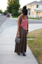 light brown Forever 21 skirt - Marshalls shirt