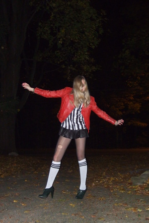 vintage jacket - iParty dress - shoes