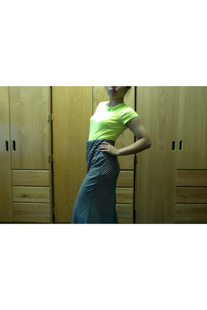 cotton maxi skirt - t-shirt