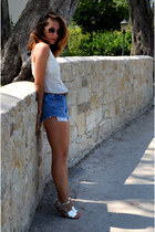 made by me sandals - Levis shorts - made by me bracelet