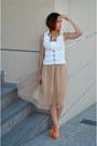 Zara-vest-zara-skirt