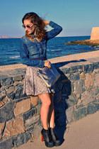 Sisley skirt - Jeffrey Campbell boots - Zara shirt