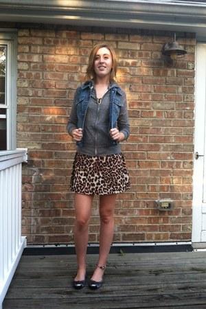 cheetah print Forever 21 dress - Mudd sweatshirt