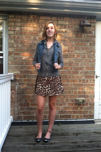 cheetah print Forever 21 dress - Mudd sweatshirt