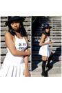 Tennis-american-apparel-skirt-crop-top-brandy-melville-top