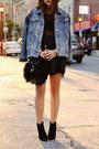 Light-blue-f21-jacket-black-h-m-bag-black-uo-bra-black-uo-top