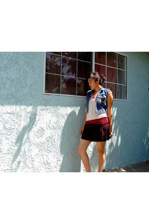 vest - top - top - skirt