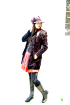 coat - shoes - skirt