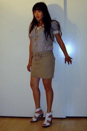 jovovich-hawk for target shirt - Old Navy shorts - Steve Madden shoes