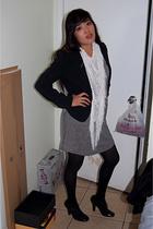 scarf - dress - blazer - shoes